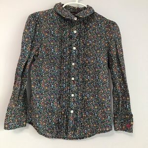 Ralph Lauren Girls Floral Long Sleeve Blouse
